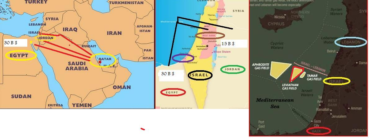 The IsraelEgyptJordan Natural Gas Agreement And The July - Map of egypt jordan and israel