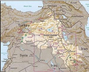 Kurdistan Map Wikipedial