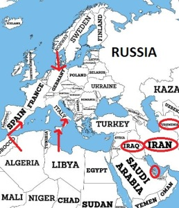 Libya Algeria Pipelines to Europe
