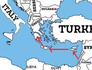 Map of East Med Pipeline