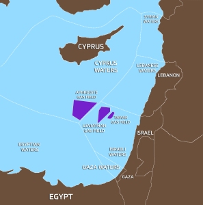 Map of Israeli Natural Gas Fields