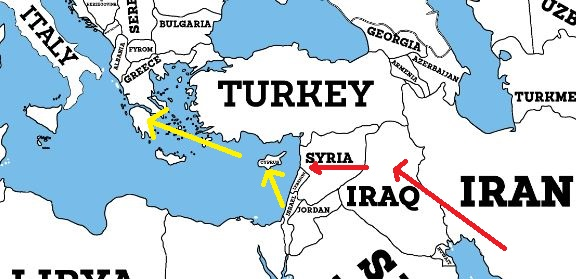 Russia Vs Turkey The Geopolitics Of The South And The Turk - What continent is syria in