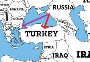 Russia and Turkish Prefered Routes