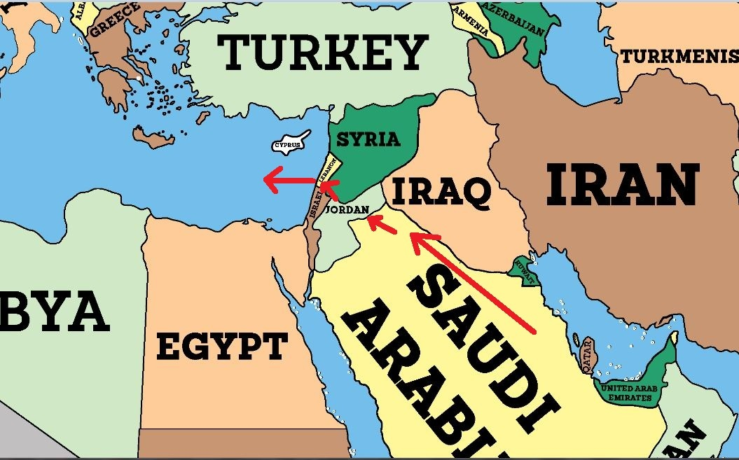 The IntraArab War For Oil Iakovos Alhadeff - Map of egypt and syria