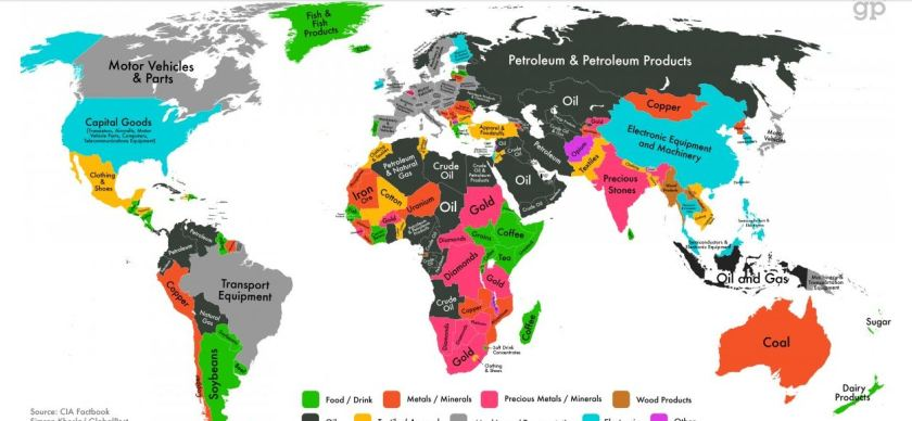 Map of World Exports