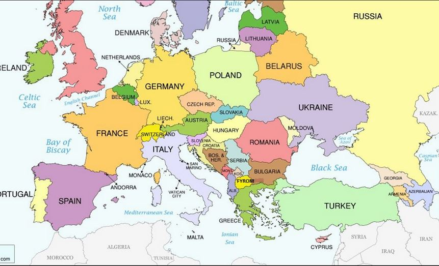 Southern Europe And The Balkans Map  Thefreebiedepot