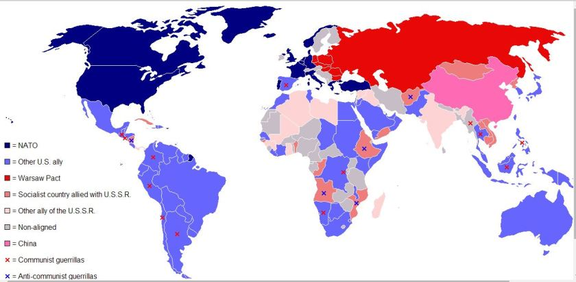 Map of Alliances During the Cold War