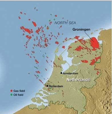 Map of the Groningen Natural Gas Field