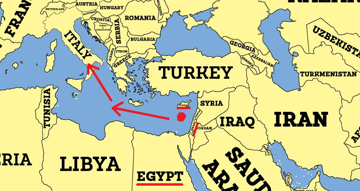 Gazprom vs eni a new war in east mediterranean sea iakovos alhadeff map of eni in egypt gumiabroncs Image collections