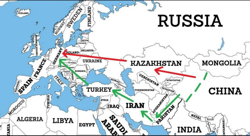 Map of the New Silk Roads 2