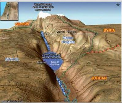 Map of Golan Heights 3D