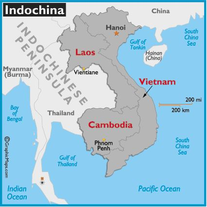 Map of French Indochina