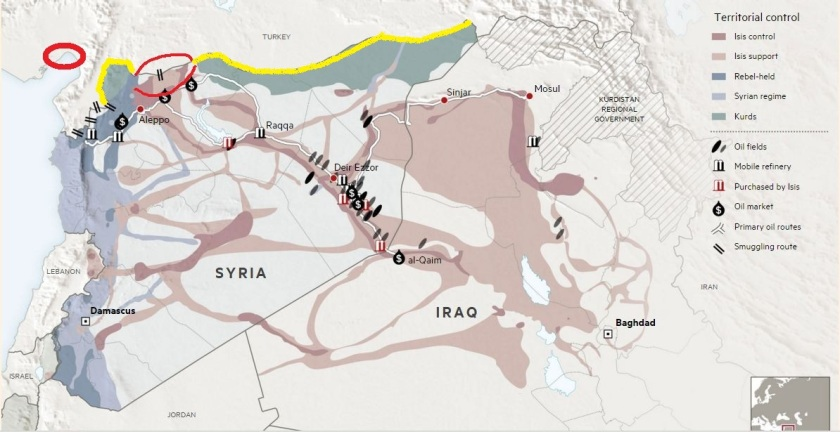 Map Oil Fields Controlled by ISIS