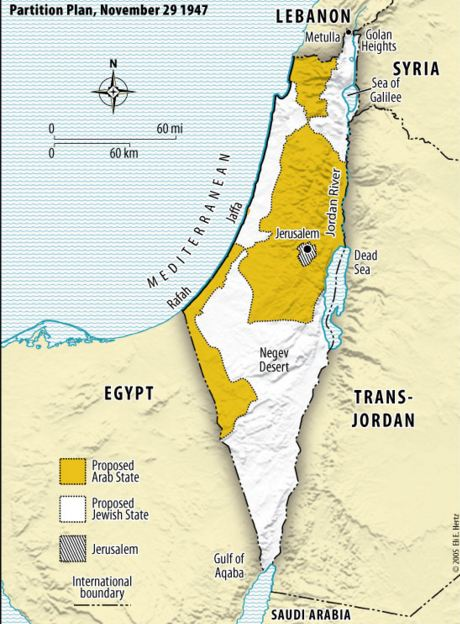 Map Palestine Partition Plan 1947