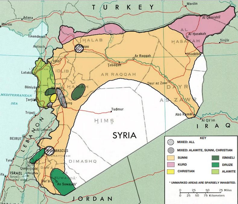 Map of Alawite Syria