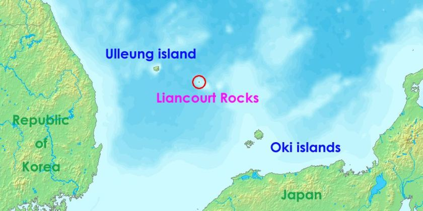 Map of Liancourt Rocks