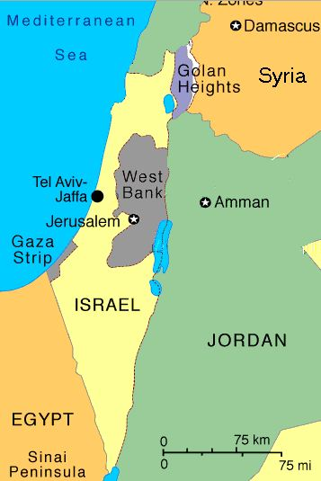 Map of Gaza
