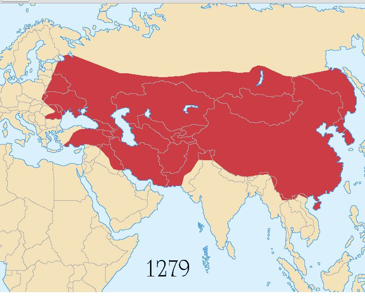 Map of Mongol Empire 1279