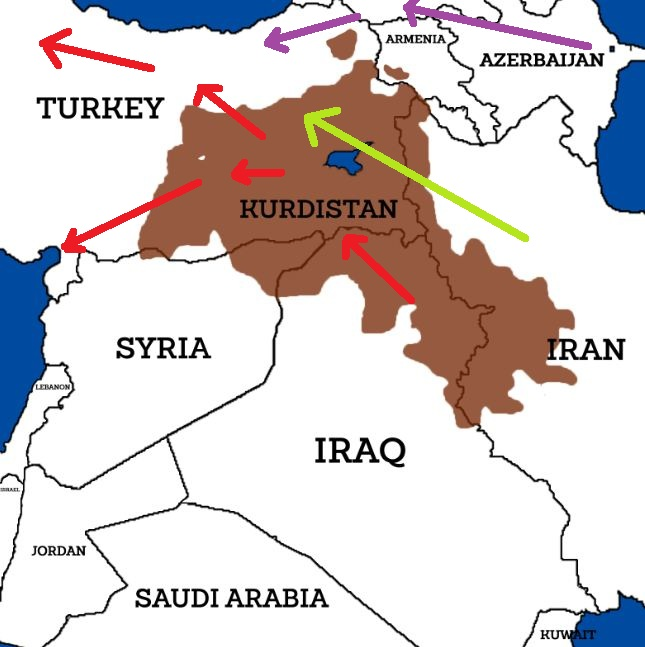Iran and turkey a return to kemalism iakovos alhadeff map of kurdistan gumiabroncs Gallery