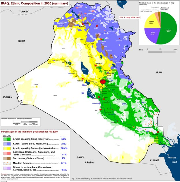 Map Iraq Sunni Shia Kurds