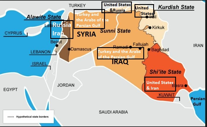 Map of Syria Iraq En