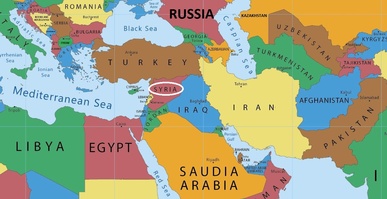 The American Strategy In Syria Iakovos Alhadeff: Syria Middle East Map At Infoasik.co