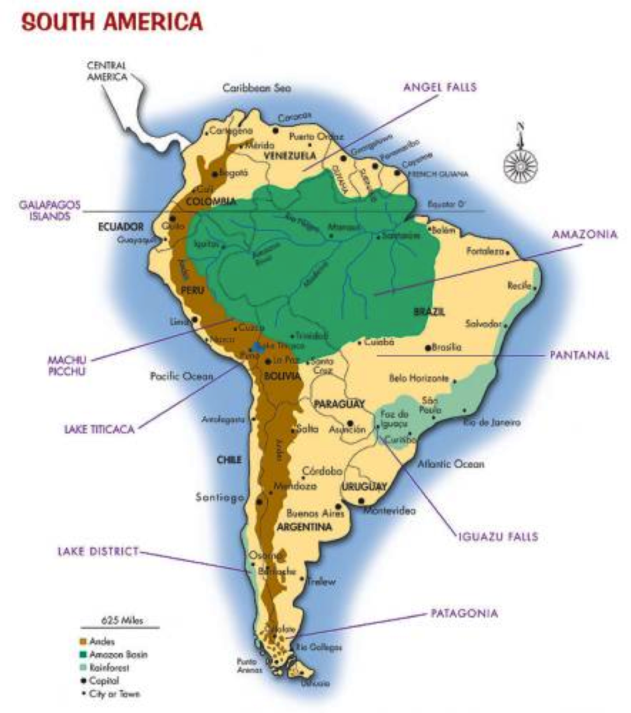 America Map South America Large South America Map Map Of South - Ecuador south america map