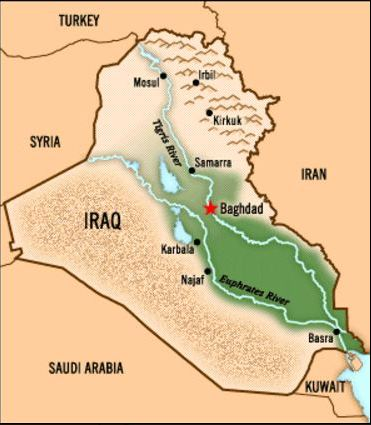 Map of Iraqi Desert
