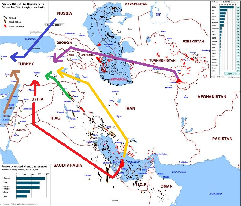 Map of Oil and Gas