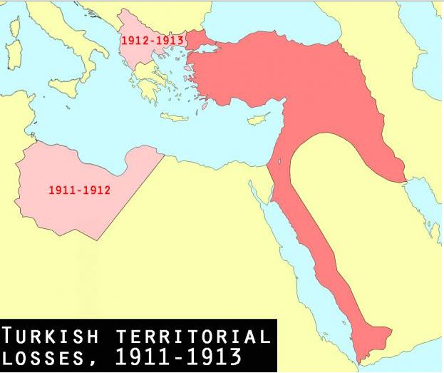 Map of The Ottoman Empire 1900