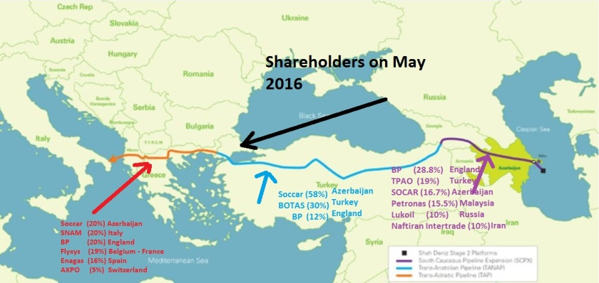 Map Shareholders of TAP